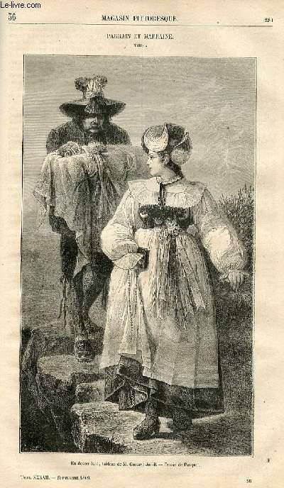 LE MAGASIN PITTORESQUE - Livraison n°036 - Parrain et Marraine, Tyrol.