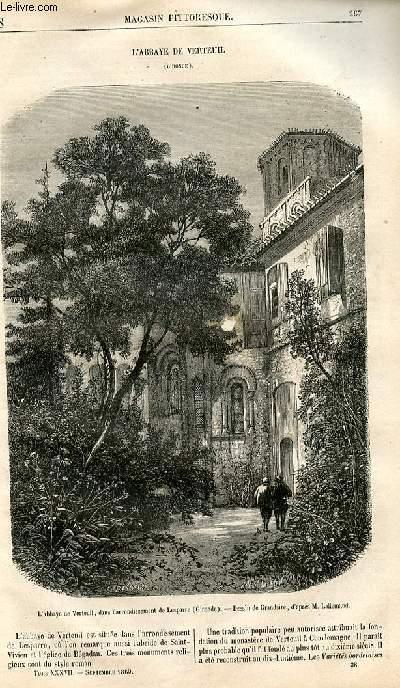 LE MAGASIN PITTORESQUE - Livraison n°038 - L'abbaye de Verteuil (gironde).