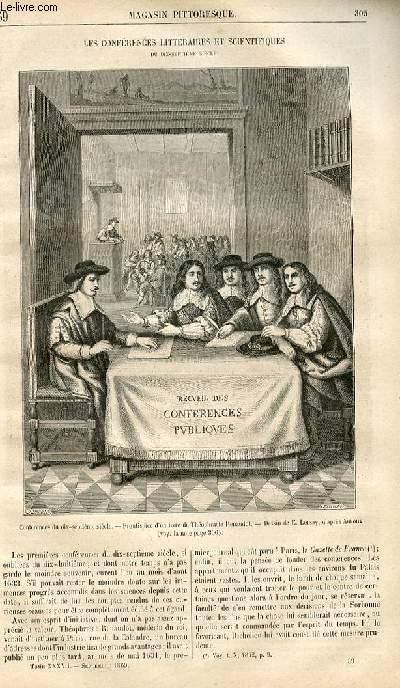LE MAGASIN PITTORESQUE - Livraison n°039 - Les conférences littéraires et scientifiques du 17ème siècle.
