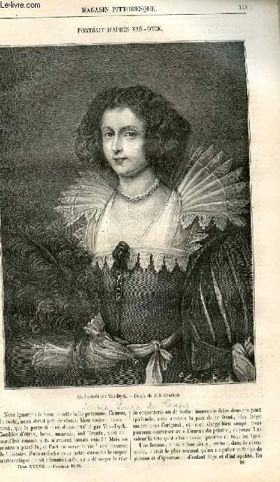 LE MAGASIN PITTORESQUE - Livraison n°040 - Portrait d'après van Dyck.