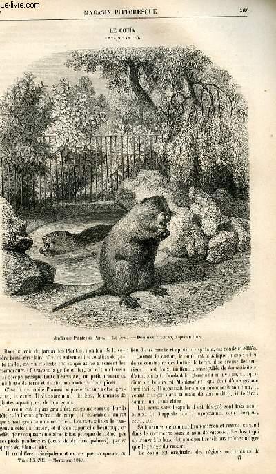 LE MAGASIN PITTORESQUE - Livraison n°047 - Le couïa (myopotamus).