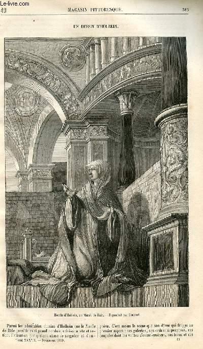 LE MAGASIN PITTORESQUE - Livraison n°049 - Un dessin d'Holbein.