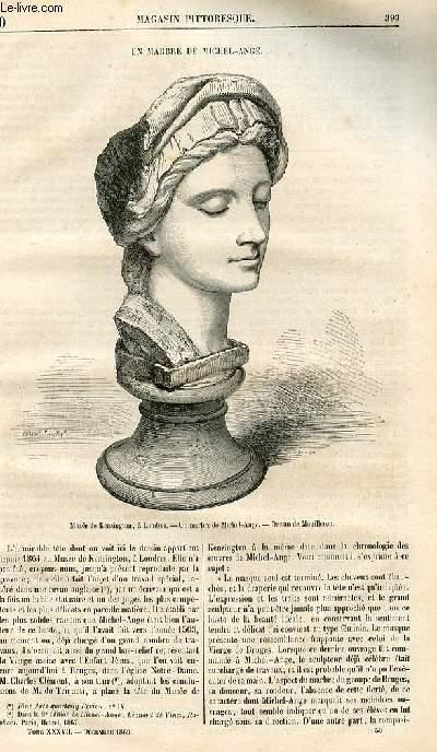 LE MAGASIN PITTORESQUE - Livraison n°050 - Un marbre de Michel Ange.