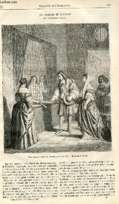 LE MAGASIN PITTORESQUE - Livraison n°051 - Un parloir de couvent au 17ème siècle.