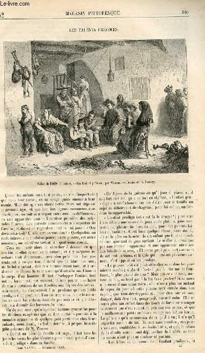 LE MAGASIN PITTORESQUE - Livraison n°052 - Les talents précoceS.