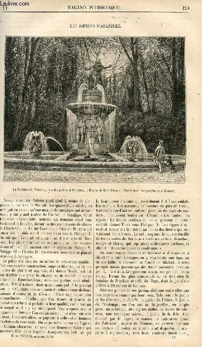 LE MAGASIN PITTORESQUE - Livraison n°017 - Les jardins d'Aranjuez.