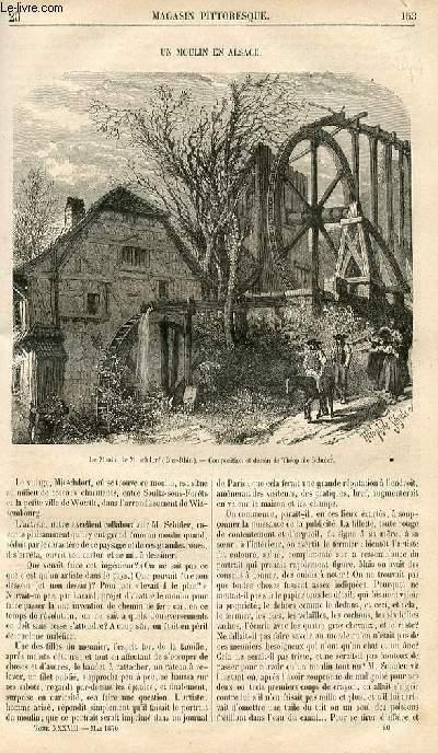 LE MAGASIN PITTORESQUE - Livraison n°020 - Un moulin en Alsace.