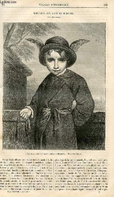 LE MAGASIN PITTORESQUE - Livraison n°024 - L'écolier aux ailes de mercure par Reynolds.