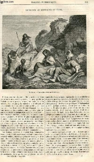 LE MAGASIN PITTORESQUE - Livraison n°026 - Repos sur les montagnes du Tyrol.
