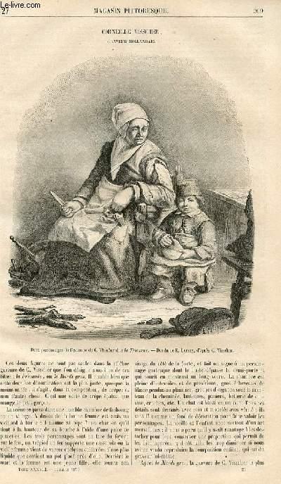 LE MAGASIN PITTORESQUE - Livraison n°027 - Corneille Visscher, graveur hollandais.
