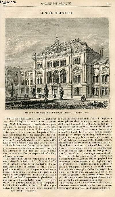 LE MAGASIN PITTORESQUE - Livraison n°028 - Le musée de Kensington.