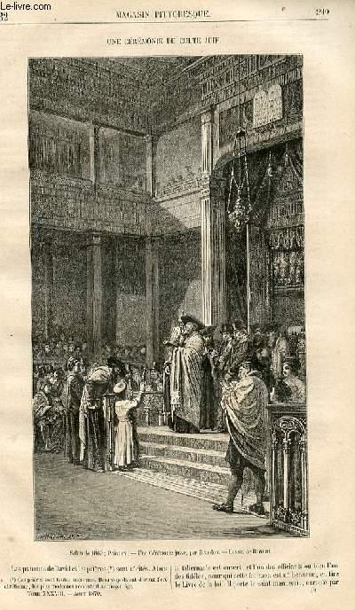 LE MAGASIN PITTORESQUE - Livraison n°032 - Une cérémonie du culte juif.