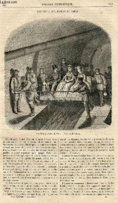 LE MAGASIN PITTORESQUE - Livraison n°033 - Une visite aux égouts de Paris.
