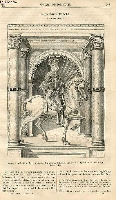 LE MAGASIN PITTORESQUE - Livraison n°034 - Giacomuzzo Attendolo, surnommé Sforza.