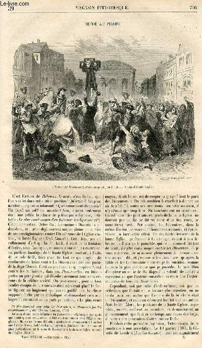 LE MAGASIN PITTORESQUE - Livraison n°039 - Defoe au pilori.