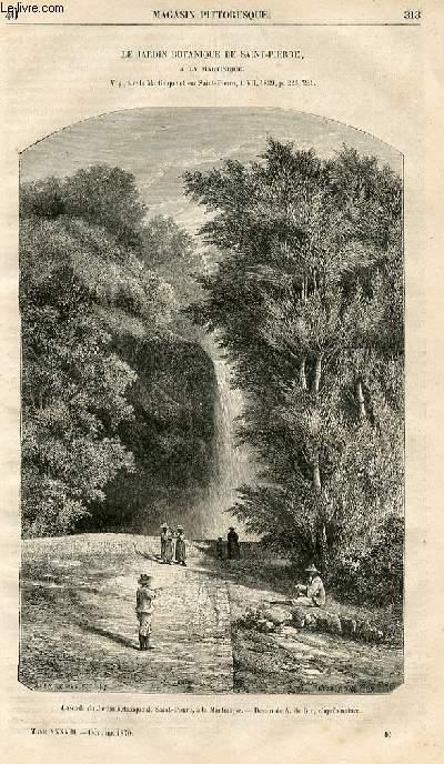 LE MAGASIN PITTORESQUE - Livraison n°040 - Le jardin botanique de Saint Pierre à la Martinique.