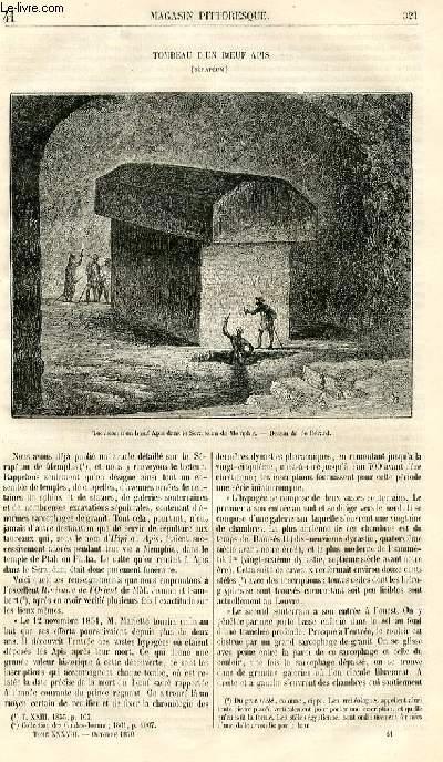 LE MAGASIN PITTORESQUE - Livraison n°041 - Tombeau d'un boeuf Apis (Sérapéum).