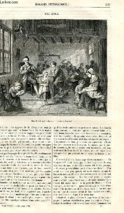 LE MAGASIN PITTORESQUE - Livraison n°043 - Une école.