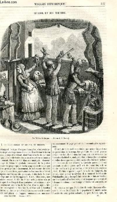 LE MAGASIN PITTORESQUE - Livraison n°044 - Guignol et son théâtre; à suivre.