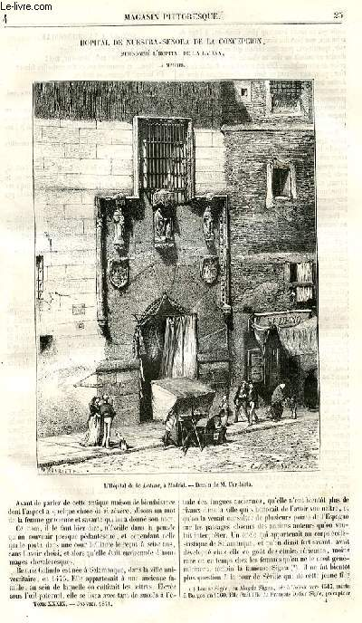 LE MAGASIN PITTORESQUE - Livraison n°04 - Hopital de Nuestra Senora de la Concepcion, surnommé l'hopital de al Latina à Madrid.