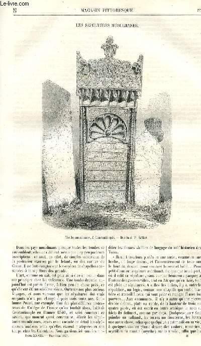 LE MAGASIN PITTORESQUE - Livraison n°08 - Les sépultures musulmanes.