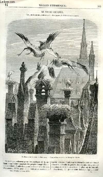 LE MAGASIN PITTORESQUE - Livraison n°14 - Le nid de cigognes.