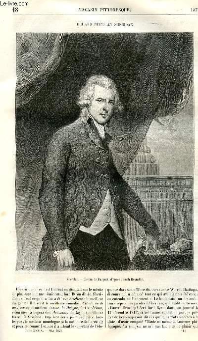 LE MAGASIN PITTORESQUE - Livraison n°18 - Richard Brinsley Sheridan.