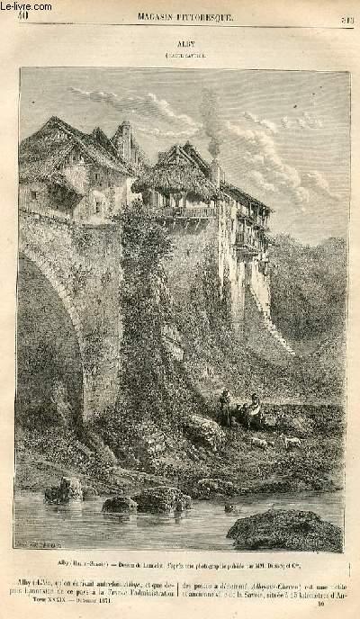 LE MAGASIN PITTORESQUE - Livraison n°40 - Alby (haute Savoie).