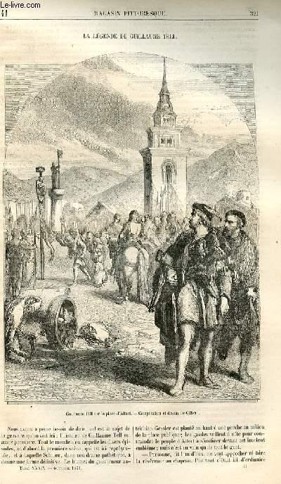 LE MAGASIN PITTORESQUE - Livraison n°41 - La légende de Guillaume Tell.