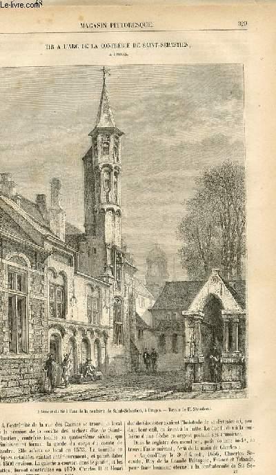 LE MAGASIN PITTORESQUE - Livraison n°42 - Tir à l'arc de la confrérie de Saint Sébastien à BrugeS.