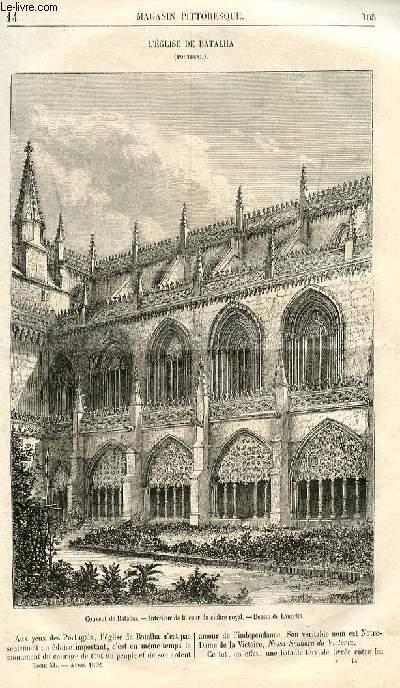 LE MAGASIN PITTORESQUE - Livraison n°14 - L'église de Batalha (Portugal).