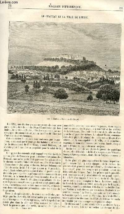 LE MAGASIN PITTORESQUE - Livraison n°16 - Le château et la ville de Bitche.