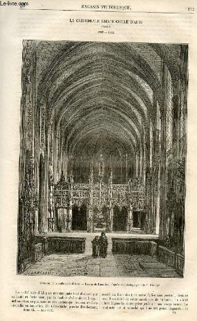 LE MAGASIN PITTORESQUE - Livraison n°23 - La cathédrâle Sainte Cécile d'Alby (tarn) - 1282-1512, à suivre.