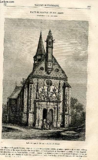 LE MAGASIN PITTORESQUE - Livraison n°32 - Pagny - Le - Château et son église (Côte d'Or).