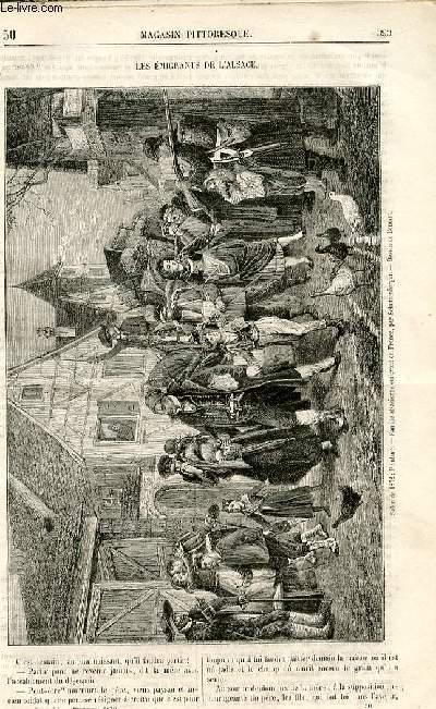 LE MAGASIN PITTORESQUE - Livraison n°50 - Les émigrants de l'Alsace.
