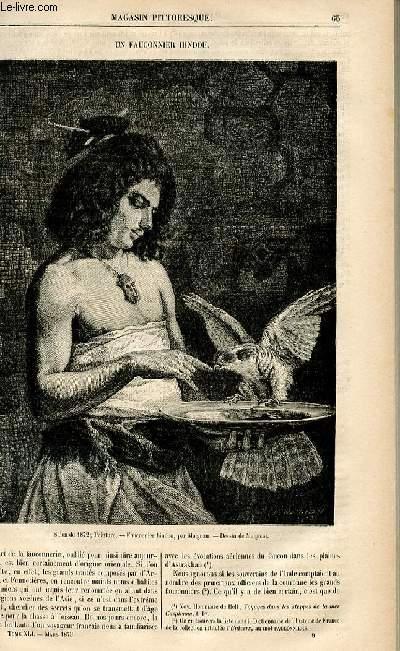 LE MAGASIN PITTORESQUE - Livraison n°09 - Un fauconnier hindou.