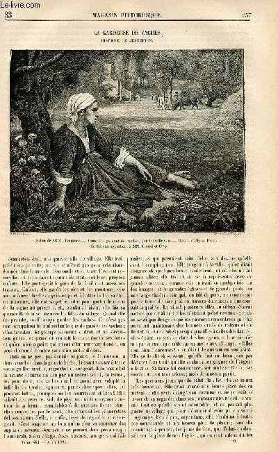 LE MAGASIN PITTORESQUE - Livraison n°33 - La gardeuse de vaches - histoire de jeanneton.