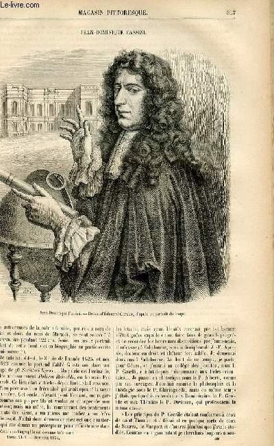 LE MAGASIN PITTORESQUE - Livraison n°40 - Jean Dominique Cassini.
