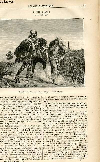 LE MAGASIN PITTORESQUE - Livraison n°52 - le Juif errant.