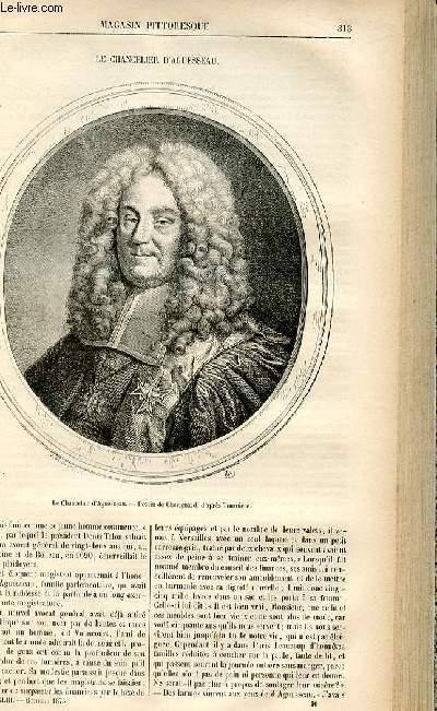 LE MAGASIN PITTORESQUE - Livraison n°40 - Le chancelier d'Aguesseau.