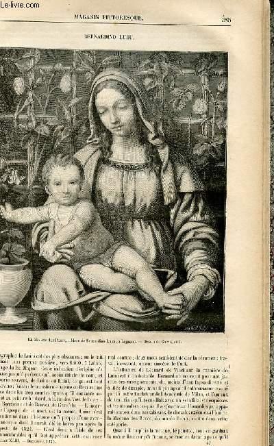 LE MAGASIN PITTORESQUE - Livraison n°49 - Bernardino Luini.