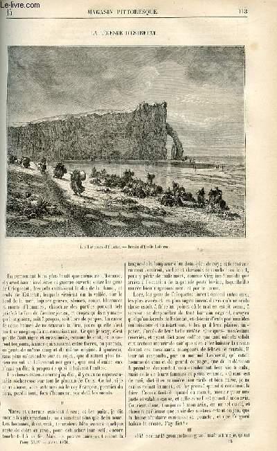 LE MAGASIN PITTORESQUE - Livraison n°15 - La légende d'Estretat.