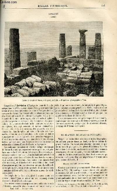 LE MAGASIN PITTORESQUE - Livraison n°31 - Girgenti (Sicile).