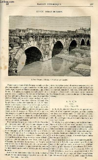LE MAGASIN PITTORESQUE - Livraison n°33 - le pont romain de Rimini.