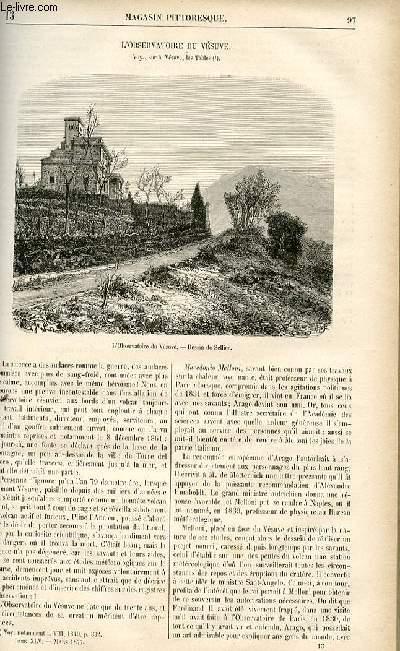 LE MAGASIN PITTORESQUE - Livraison n°13 - L'observatoire du vésuve.