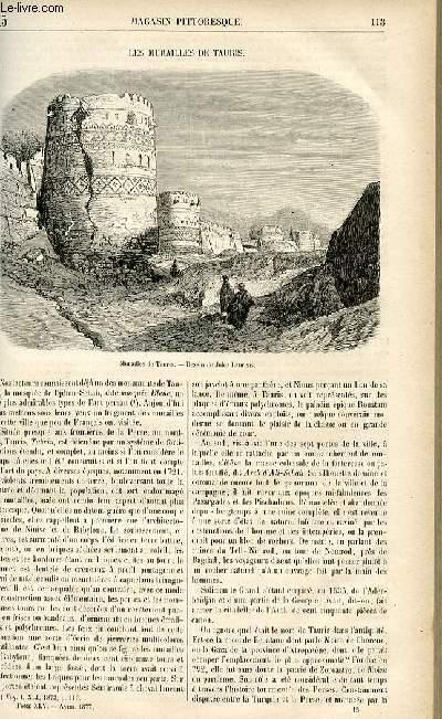 LE MAGASIN PITTORESQUE - Livraison n°15 - Les murailles de Tauris.