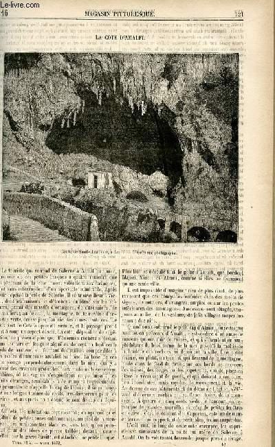 LE MAGASIN PITTORESQUE - Livraison n°16 - La côte d'Amalfi.