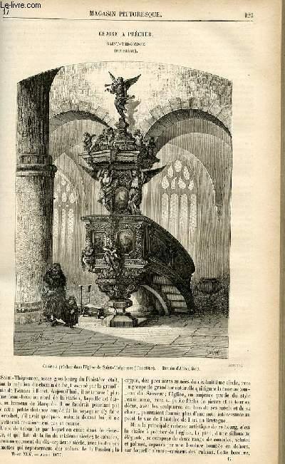 LE MAGASIN PITTORESQUE - Livraison n°17 - Chaire à prêcher - Saint Thégonnec (Finistère).