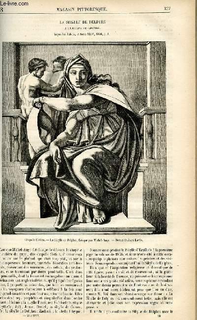 LE MAGASIN PITTORESQUE - Livraison n°18 - La sibylle de Delphes à la Chapelle Sixtine.