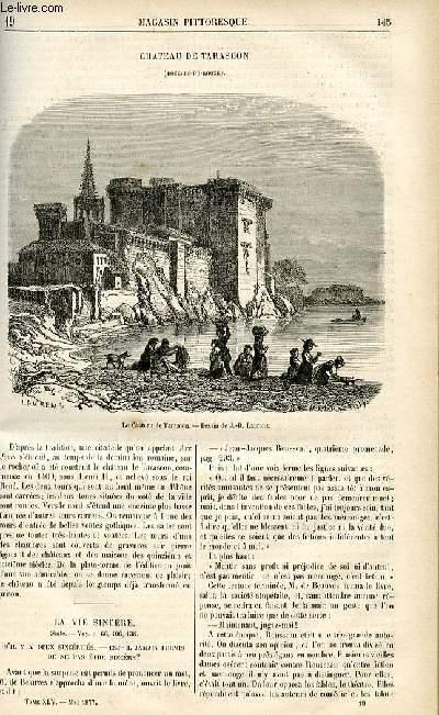 LE MAGASIN PITTORESQUE - Livraison n°19 - Château de Tarascon ( Bouches du Rhone).